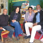 The Broadside Press Executive Committee: Chris Rutherford, Aurora Harris, Dr. Gloria House, and Al Ward